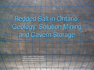 2009 OPI Bedded Salt in Ontario