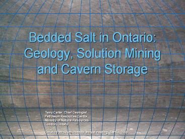 2009 OPI Bedded Salt in Ontario